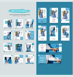 Fashion social media post promotion collection vector