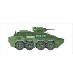 Fighting armored vehicle camouflage wheeled green vector