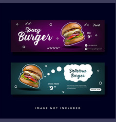 food and culinary banner promotion collection vector image