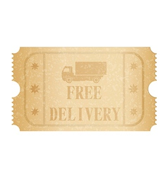 Free delivery ticket vector image