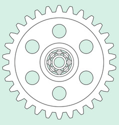 gear and bearing vector image