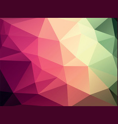 geometric red green texture background vector image