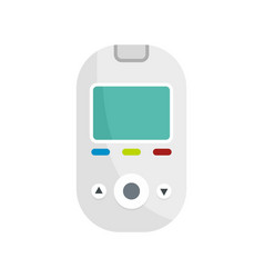 glucometer tool icon flat style vector image