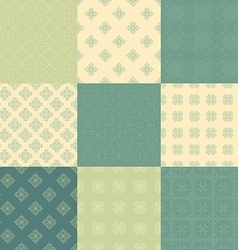 Green Pattern Collection vector image