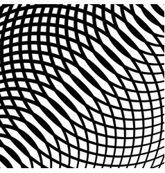 Grid mesh of curved lines cellular moire effect vector