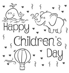 Happy childrens day art vector