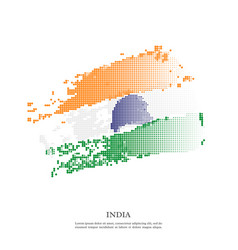 india republic flag with halftone effect grunge vector image