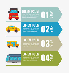 infographic transport cars design vector image