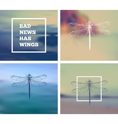 Insect dragonfly vector