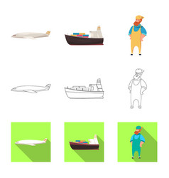 isolated object goods and cargo sign vector image