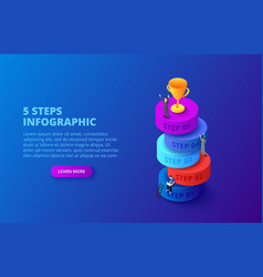 isometric cylinders with people and gold vector image