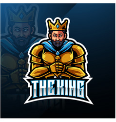 king mascot logo design vector image
