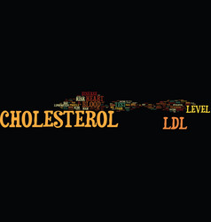 Ldl cholesterol text background word cloud concept vector