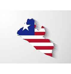 Liberia map with shadow effect vector