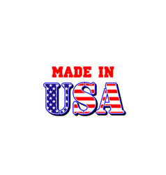 made in usa american flag icon vector image
