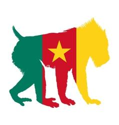 Mandrill Cameroon vector