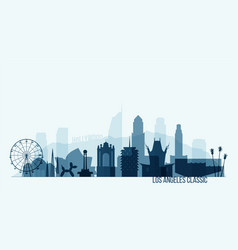 New york skyline buildings vector