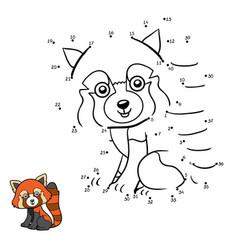 numbers game red panda vector image