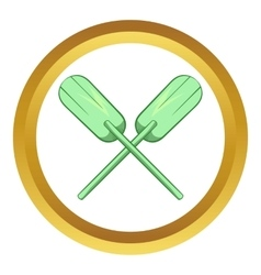 Paddles icon vector image