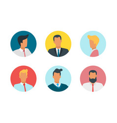 people avatar porteait vector image