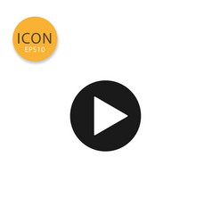 play icon isolated flat style vector image