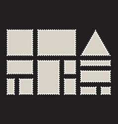 Postage stamps frames blank postage stamps set on vector