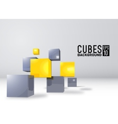 Realistic cubes background concept vector