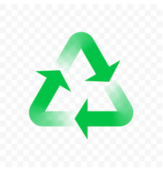 Recycle triangle arrow outline icon eco waste vector