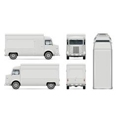 Retro food truck template vector
