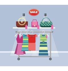 Sale Item Handbags and Clothing vector
