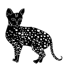 savannah icon in black style isolated on white vector image