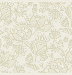 seamless floral pattern with flowers and leaves vector image