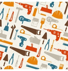 Seamless pattern with repair working tools icons vector image