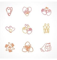 Set family logos vector