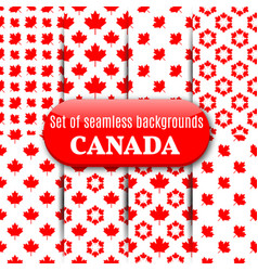 set of canadian seamless background vector image