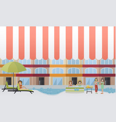 Spa hotel concept flat vector