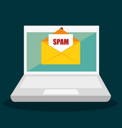 Spam electronic mail icon vector
