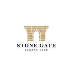 stone gate logo vector image
