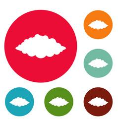 Storm icons circle set vector