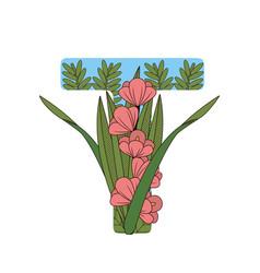 t font letter vector image