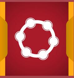 Tambourine music instrument icon vector