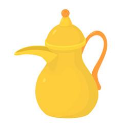 Teapot icon cartoon style vector