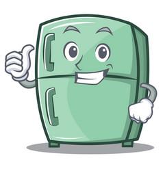 Thumbs up cute refrigerator character cartoon vector