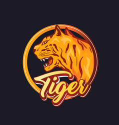 tiger logo template vector image