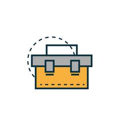 Toolbox work tools engineering icon vector