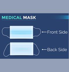 virus protection medical mask vector image