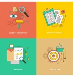 Vision of Development Working Progress Workplan vector