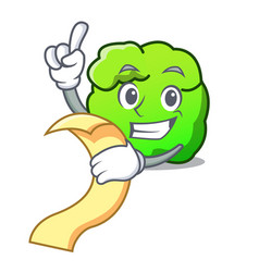 With menu shrub mascot cartoon style vector