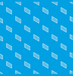 wood window frame pattern seamless blue vector image