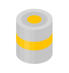 yellow paint can icon isometric style vector image